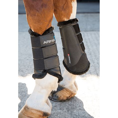 Shires Arma Fur Lined Brushing Boots - Black - For The