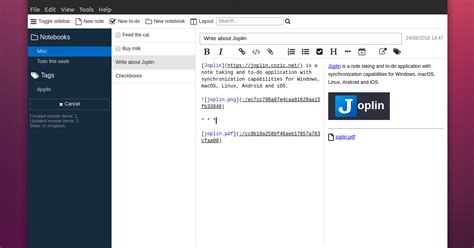 Joplin: Encrypted Open Source Note Taking And To-Do