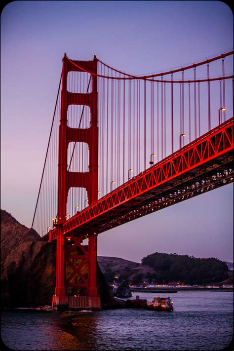 The Golden (and Red) Gate Bridge in San Francisco