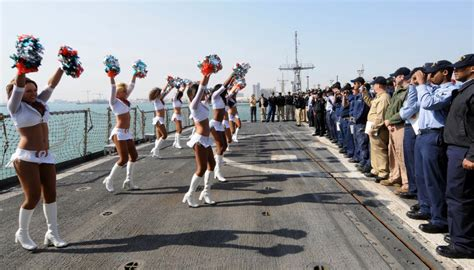 DVIDS - Images - Miami Dolphins cheerleaders visit USS