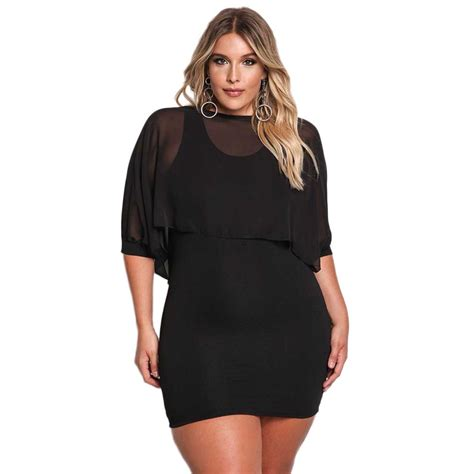 Sexy Women Plus Size Dress Casual Bodycon Evening Cocktail