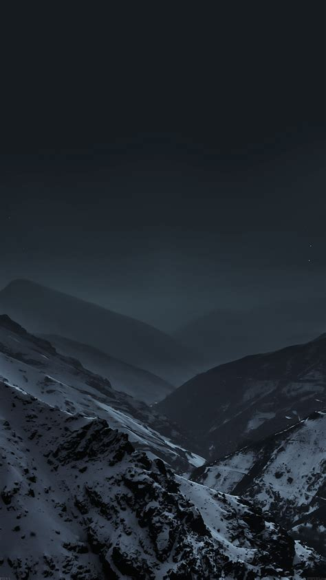 Mountains At Night Fog Snow - Best htc one wallpapers